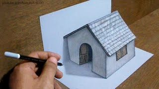 Download Trick Art Drawing 3D Tiny House on paper Video