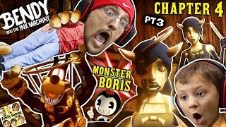 Download BORIS the MONSTER WOLF & Two Alice Angels? Bendy & the Ink Machine BOSS Fight (FGTEEV Chapter 4 #3) Video