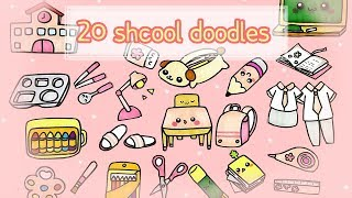 Download [Draw 20 school doodles] 20가지 봄이 온 학교생활 손그림 그리기 Video
