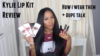 Download Kylie Lip Kit Review| Swatches, How I Wear Them + Dupe Talk Video