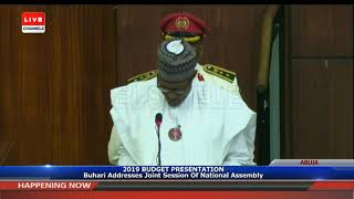 Download Full Speech Of President Buhari At NASS Pt.1|Live Event| Video
