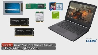 Download How to Build a Barebones Laptop (Clevo P641RE/P640RE) Gaming Whitebook Notebook Video
