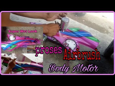 FULL Cara Airbrush Body Motor Supra Mantap