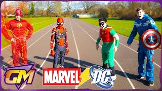 Download Marvel Vs DC - Super Hero Race - Who is the Fastest? Ep.1 Video
