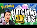 Download Pokemon Go - HATCHING ALL 9 10K EGGS AT ONCE! (CRAZY Pokemon Go Luck!) Video