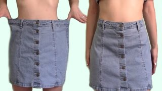 Download Alter Clothes that are Too Big // Denim Sew Tutorial Video