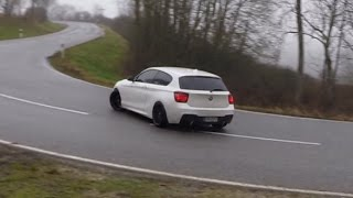 Download The biggest BMW M135i street Drift Compilation + Straight pipe exhaust sound Video