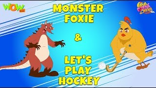 Download Monster Foxie the fox | Let's Play Hockey- Eena Meena Deeka - Animated cartoon - Non Dialogue Video