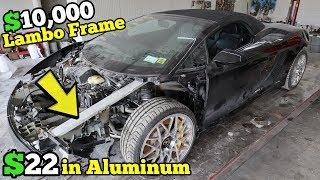 Download Rebuilding $10,000+ of Lamborghini Frame Damage Using $22 in Aluminum Bar & Harbor Freight Tools Video