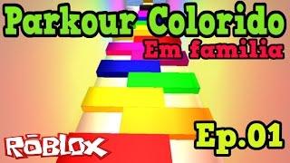Download Roblox - PARKOUR COLORIDO (EM FAMILIA) Ep.01 Video