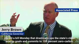 Download California commits to 100 percent clean energy Video