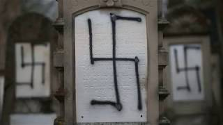 Download Dozens of graves desecrated in Jewish cemetery in France Video