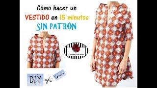 Download DIY. Cómo hacer un vestido en 15 min. y sin patrón. The easiest dress in the world. Sin moldes Video