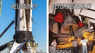 Download Will the Falcon 9 actually be reusable or just refurbish-able like the Space Shuttle? Video