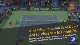 Download Así mostraron los medios el último punto de Argentina campeón de la Copa Davis 2016 Video