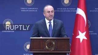 Download Turkey: Cavusoglu denounces the EU's 'hypocrisy' during Steinmeier press conference Video