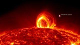 Download NASA   Fiery Looping Rain on the Sun Video