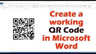 Download Create A Working QR Code In Microsoft Word Video