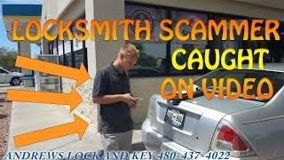 Download LOCKSMITH SCAMMER CAUGHT ON VIDEO! Mesa Phoenix Locksmith Video
