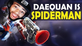 Download DAEQUAN DOUBLE GRAPPLING HOOK PLAYS | SPIDERMAN - HIGH KILL FUNNY GAME - (Fortnite Battle Royale) Video