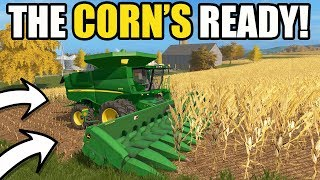 Download FARMING SIMULATOR 2017 | DIGGING INTO THE FIRST CORN FIELD | CLAAS LEXION & JOHN DEERE | EP #38 Video