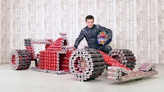 Download DIY Coca Cola F1 Racing Car from Cans Video