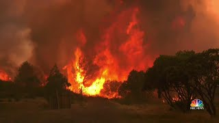Download Eight Massive Wildfires Rage Across California Video