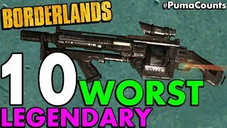 Download Top 10 Worst Legendary Guns and Weapons in Borderlands 1 #PumaCounts Video