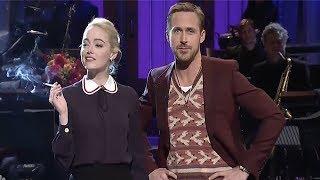 Download Ryan Gosling & Emma Stone MOCK La La Land On SNL - Ryan Breaks Character Video