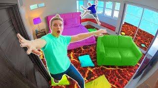 Download FLOOR is LAVA in HOTEL!! (SIS vs BRO Challenge) Video