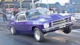 Download 582ci Holden MONARO HQ on 3 WHEELS! Video