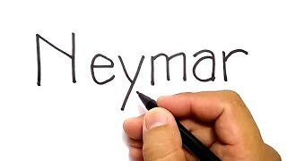 Download VERY EASY ! ,how to turn word NEYMAR into CARTOON for kids / how to draw NEYMAR Video
