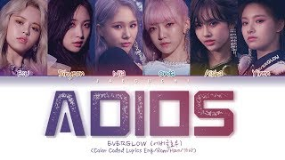 Download EVERGLOW (에버글로우) - Adios (Color Coded Lyrics Eng/Rom/Han/가사) Video