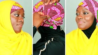 Download Hijab Tutorial with African Head Wrap/Tie Video