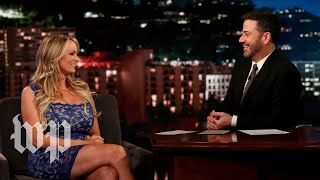 Download Stormy Daniels dodges Jimmy Kimmel's questions about Trump Video
