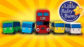 Download Ten Little Buses | From Wheels On The Bus | Nursery Rhymes | by LittleBabyBum! Video