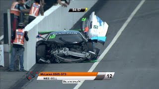 Download Blancpain GT Series Asia 2017. Race 1 Sepang International Circuit. Start Hard Crash Video