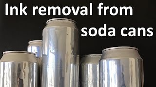 Download Ink removal from soda can Video