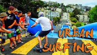 Download Urban Surfing down streets of San Francisco! - Bear Naked! Video
