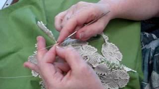 Download Irish Crochet - Clones knot filling stitch Video