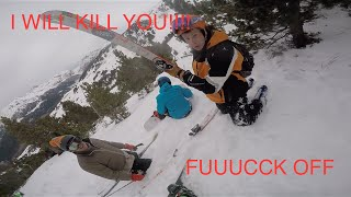 Download SNOWBOARDER VS SKIIER (HD) GOPRO Video