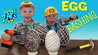 Download BASHING Giant Magical Chocolate Eggs with Surprise Toys Inside! Video