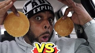 Download FOOD FIGHT: McDonalds VS Burger King Pancakes | WHICH IS BETTER? Video