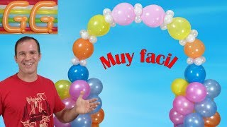 Download como hacer un arco de globos - decoracion con globos - arco con globos Video