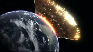 Download Simulation d'une météorite qui percute la Terre Video