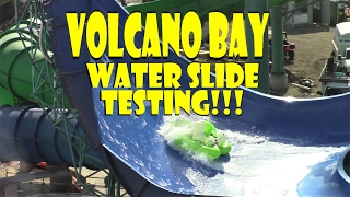 Download Exclusive First Look: Volcano Bay Water Slide Testing With Water Dummies 2.7.17!!! Video