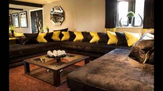 Download Cool Brown sofa living room ideas Video