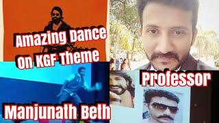 Download College Professor Manjunath Beth Dance On #KGF Theme For Rocking Star #YASH l I Loved It 😍 Video