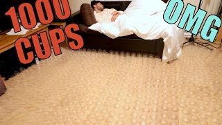 Download 1000 CUPS AROUND BED PRANK!!! Video