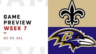 Download New Orleans Saints vs. Baltimore Ravens | Week 7 Game Preview | Move the Sticks Video